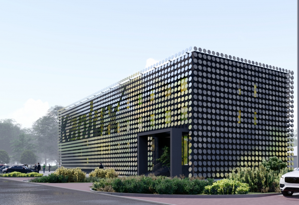 MODERNISATION OF AN OFFICE BUILDING FACADE IN RADZIONKÓW - ZALEWSKI ARCHITECTURE GROUP